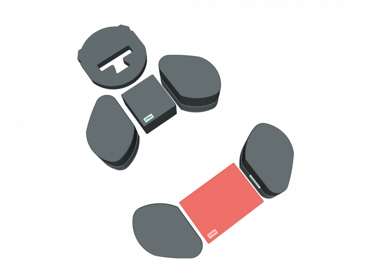 Coussin ventral appareillage rachis