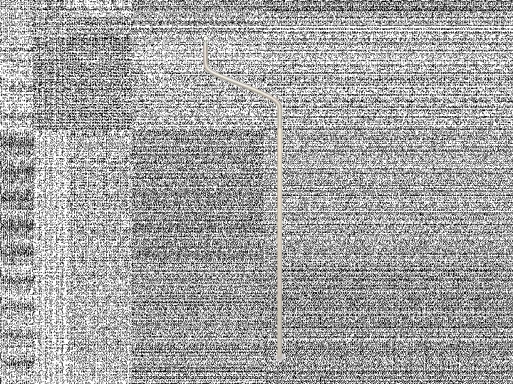 Piquet de toupet courbe