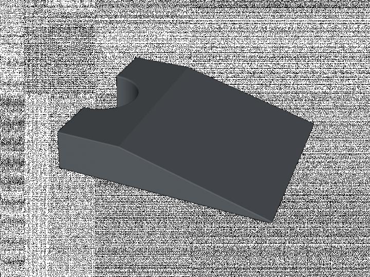 Coussin rectangulaire à pan coupé