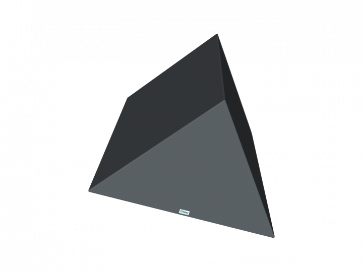 Coussin triangulaire isocèle