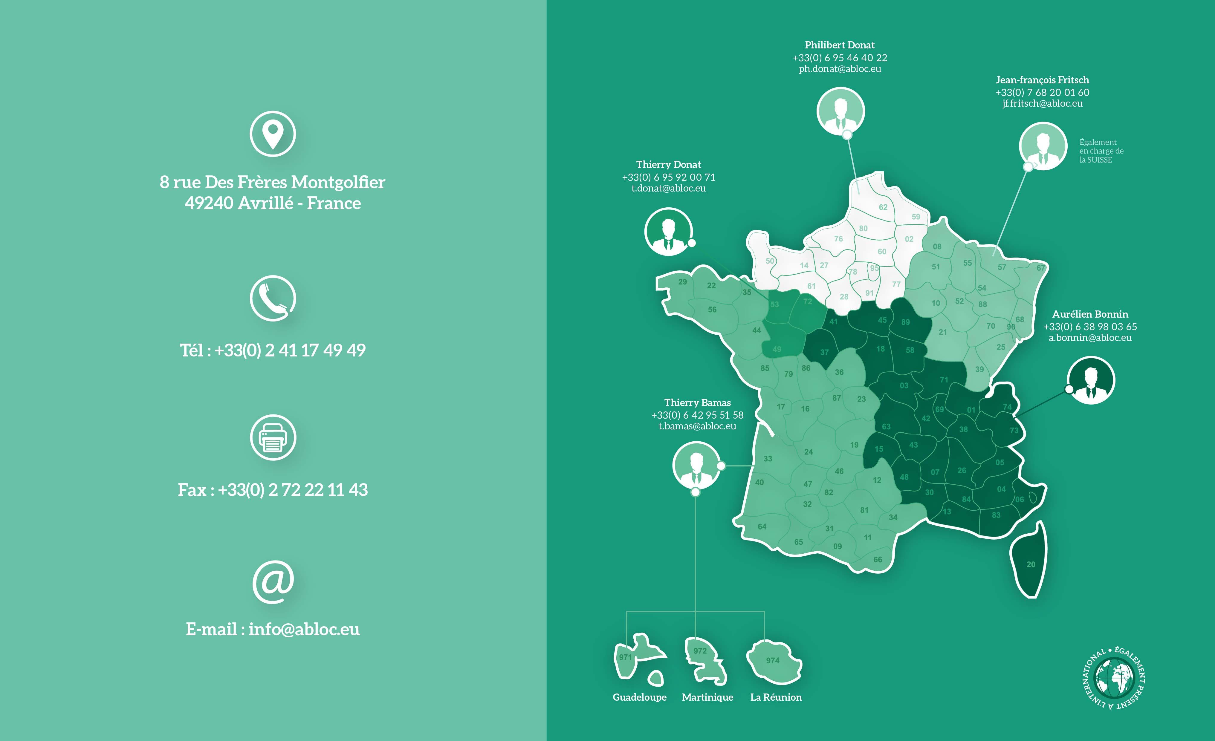 @Bloc  - Contactez-nous dans toute la France !