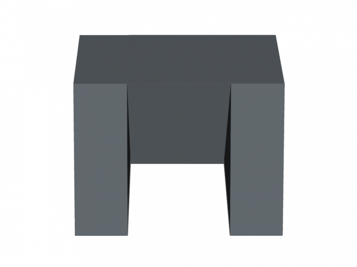 Coussin rectangle à pan coupé